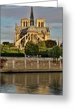 Morning Light On Cathedral Notre Dame Greeting Card