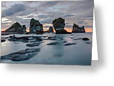 Motukiekie Beach - New Zealand Greeting Card