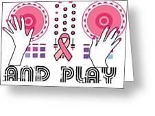 Naughty Breast Cancer Awareness Art For Women Light Greeting Card