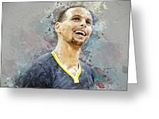 Portrait Of Stephen Curry Greeting Card