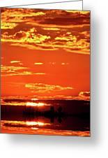 Sunset Reflection  Greeting Card