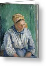 Washerwoman  Study  Greeting Card