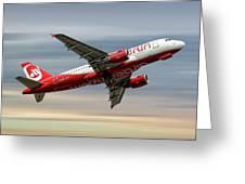 Air Berlin Airbus A319-112 Greeting Card