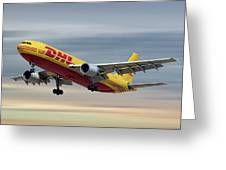 Dhl Airbus A300-f4 Greeting Card