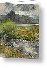 Digital Watercolor Painting Of Stunning Landscape Image Of Count Greeting Card