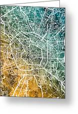 Milan Italy City Map Greeting Card