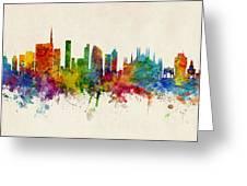 Milan Italy Skyline Greeting Card