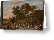 Peasants Dancing And Feasting  Greeting Card