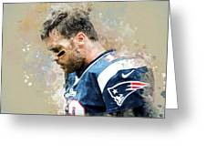 Tom Brady.new England Patriots. Greeting Card