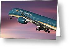 Vietnam Airlines Airbus A350 Greeting Card