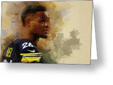 Le'veon Bell.pittsburgh Steelers. Greeting Card