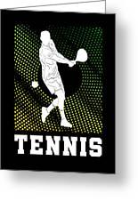 Tennis Player Tennis Racket I Love Tennis Ball Greeting Card