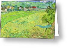 View Of Vessenots Near Auvers Greeting Card