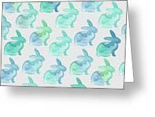 Watercolor Bunnies 1i Greeting Card