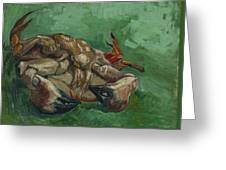 A Crab On Its Back  Greeting Card