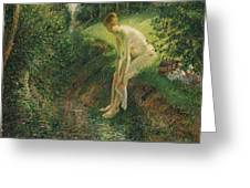 Bather In The Woods  Greeting Card