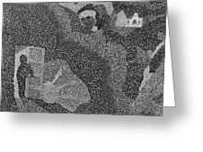Detail From Sgt. Pepper's Mug Head Greeting Card