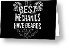 Funny Mechanic Beard Facial Hair Apparel Greeting Card