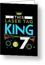 664d6648b4f2 7 Year Old Laser Tag King Birthday Party 7th Birthday Tshirt by Noirty  Designs