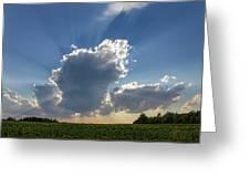 Prairie Storm Clouds Greeting Card