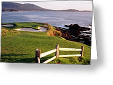 7th Hole At Pebble Beach Golf Links Greeting Card