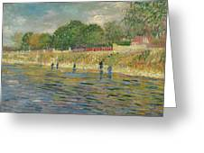 Bank Of The Seine Greeting Card