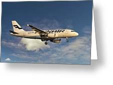 Finnair Airbus A319-112 Greeting Card
