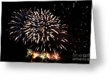Firework Display Greeting Card