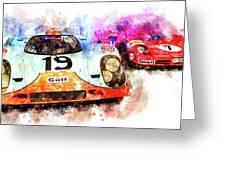 917 At Le Mans Greeting Card