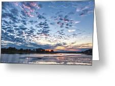 Danvers River Sunset Greeting Card