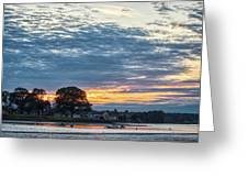Danvers River Sunset Greeting Card