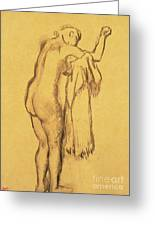 A Bather Drying Herself By E Degas Greeting Card