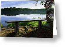 A Bench To Ponder Greeting Card