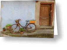 A Bicycle At Number 10 Greeting Card