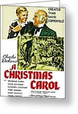 A Christmas Carol Movie Poster 1938 Greeting Card