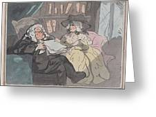 A Counselor's Opinion After He Had Retired From Practice After Thomas Rowlandson British, London 17 Greeting Card
