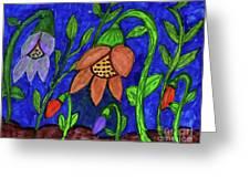 A Flower Garden Greeting Card