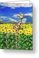 A Friendly Giraffe Hello Greeting Card