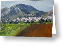 A Greek Village Greeting Card