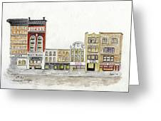 A Greenwich Village Streetscape Greeting Card
