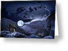 A Haunted Mountain Pass Greeting Card