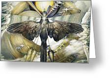A Painting Alludes To Powers That Might Enable Birds To Migrate. Greeting Card