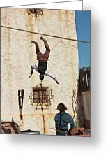 A Pair Of Stuntmen Perform At Old Tucson Greeting Card