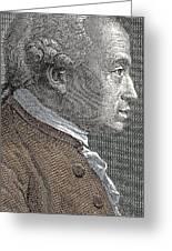 A Portrait Of Immanuel Or Emmanuel Kant Greeting Card