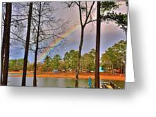 A Pot Of Gold On Lake Murray South Carolina Greeting Card by Lisa Wooten