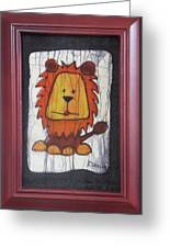 A Red Lion.  Greeting Card