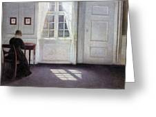 A Room In The Artist's Home In Strandgade, Copenhagen, With The Artist's Wife - Digital Remastered Greeting Card