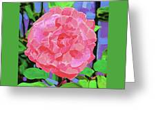 A Rose With Heart Greeting Card by Deborah Boyd