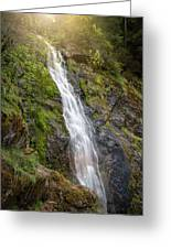 A Touch Of Light On Bridal Veil Falls Greeting Card