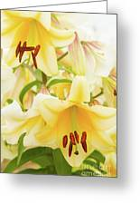 A Tower Of Lilies Greeting Card